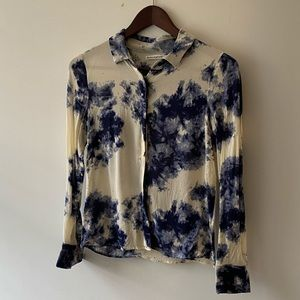 Reformation Tie Dye Style Top Long Sleeve S